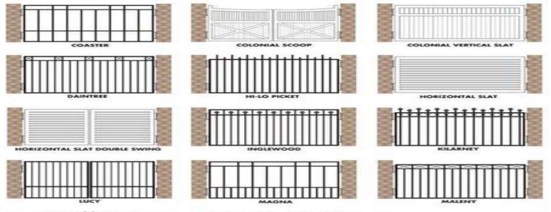 CITY GATES FENCE DESIGNS